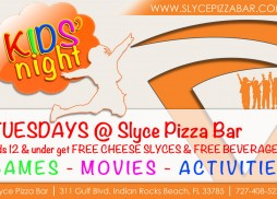 Every Tuesday is Kids&#039; Night at Slyce Pizza Bar