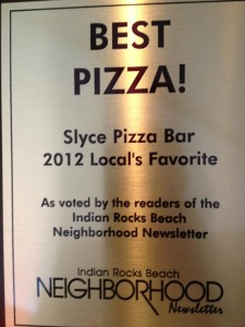 Slyce Pizza Bar 2012 Local's Favorite